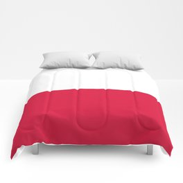 flag of poland Comforters