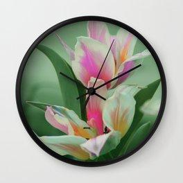 Vintage tulips 8 Wall Clock