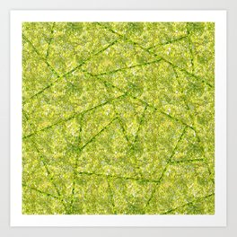 Abstract shapes with green nature colors Art Print