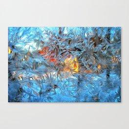 Frozen window Canvas Print