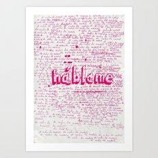 I Miss You. Talk to Me. Art Print