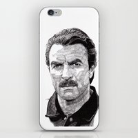 tom selleck iPhone & iPod Skins featuring Tom by Rik Reimert