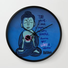 Buddha Quote1 Wall Clock