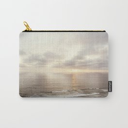 Neutral Sunset Pacific Ocean Photography, Brown Grey Seascape, California Coast Sea Landscape Carry-All Pouch