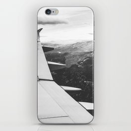 Mountain State // Colorado Rocky Mountains off the Wing of an Airplane Landscape Photo iPhone Skin