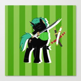 OP Pony Zoro Canvas Print