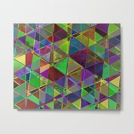 Tangled Triangles - Abstract, textured, geometric design Metal Print