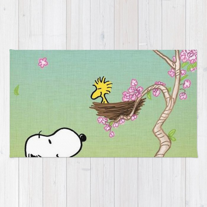 Woodstock in the Cherry Blossoms Posters Rug