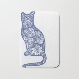Cat Zentangle Bath Mat