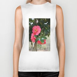 camellia flower Biker Tank