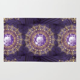 Decorative Background with Round Amethyst Rug