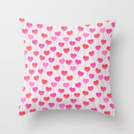 Heart Suckers Throw Pillow