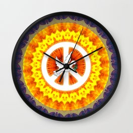 CND Peace and Love Wall Clock
