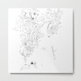 Ana Somnia (classic white) Metal Print