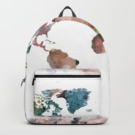 Watercolor World Map Backpack