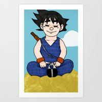 goku Art Prints featuring Goku by nu boniglio