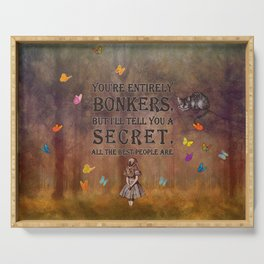 Wonderland Forest - Bonkers Quote Serving Tray