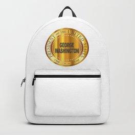 George Washington Gold Metal Stamp Backpack