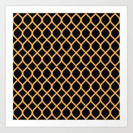The Black and Orange Curve Art Print