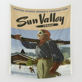 Vintage poster - Sun Valley Wall Tapestry