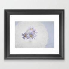 Purple daisies Framed Art Print