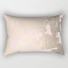 Modern Pink + Gold Rectangular Pillow