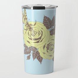 Spider Rose: Yellow Travel Mug