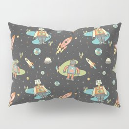 Robots in Space Pillow Sham