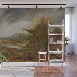 Stolen Art - Landscape with an Obelisk by Govert Flinck Wall Mural