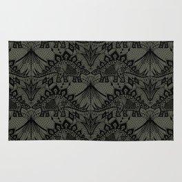 Stegosaurus Lace - Black / Grey - Rug