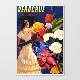 Veracruz Travel Poster Canvas Print