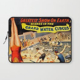 19th Century Barnum & Bailey – Grand Water Circus Act Poster Laptop Sleeve