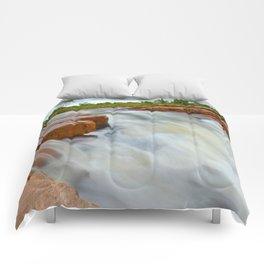 Grotto in the wet season Comforters