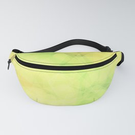 Green and orange abstract hexagons, background style Fanny Pack