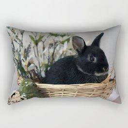 Bunny Basket Rectangular Pillow