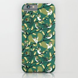 Golden-crowned Kinglets in a Pussy Willow (Greenery) iPhone Case