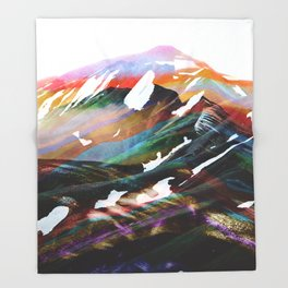 Abstract Mountains II Throw Blanket