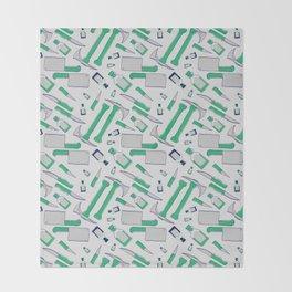Murder pattern Green Throw Blanket