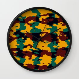 Camo texture Wall Clock