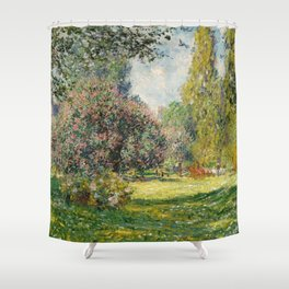 The Parc Monceau by Claude Monet Shower Curtain