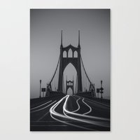 marc johns Canvas Prints featuring St. Johns Monotone by Cameron Booth