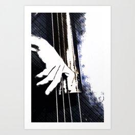 Jazz Bass Poster Art Print
