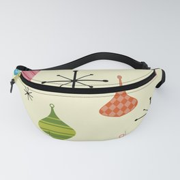 Mid Century Modern Christmas Ornaments Fanny Pack