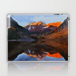The Wonderful Maroon Bells in Autumn Laptop & iPad Skin