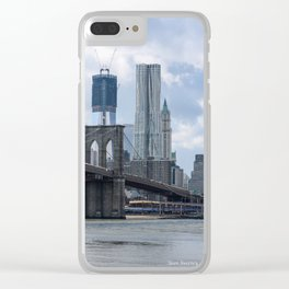 Freedom Tower Brooklyn Bridge 2012 Clear iPhone Case