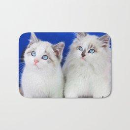 Two Cute Kittens Bath Mat