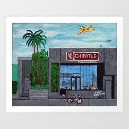Chipotle - Hollywood Art Print