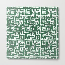 Alligator Alley Pattern Metal Print