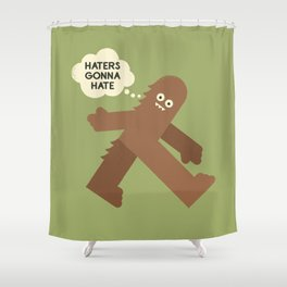 Bigfoot Has So Many Haters Shower Curtain