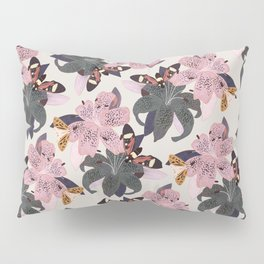 Lilies and butterflies insects Pillow Sham